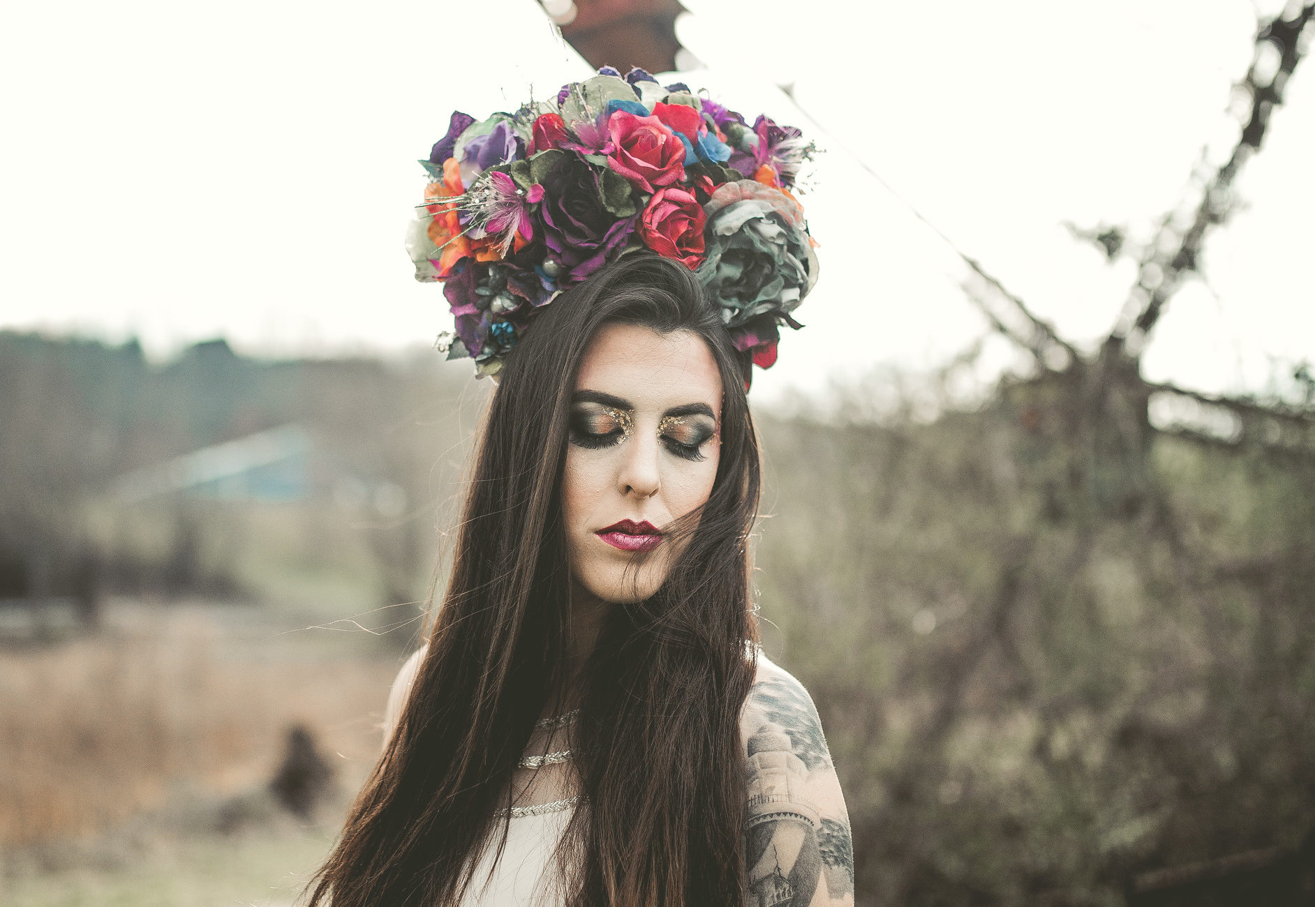 This photo is from a collaborative shoot with Meg U Photography with Kat Gibson as our model. The flower crown was crafted by Sandra Eileen, owner of Every Girl A Goddess.